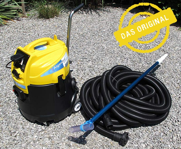 Algae-free pond vacuum cleaner, pond sludge vacuum cleaner with 8m3 / hour output