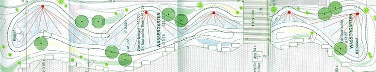 Wassergarten Teichlandschaft mit der G-Sonic Positionierungen