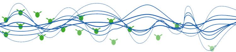 Высокоточные акустические тональные сигналы щелчка в качестве естественного разрушителя водорослей